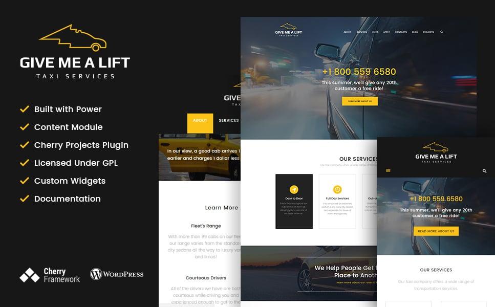 Шаблон Give Me A Lift сайта на тему услуги такси #61265