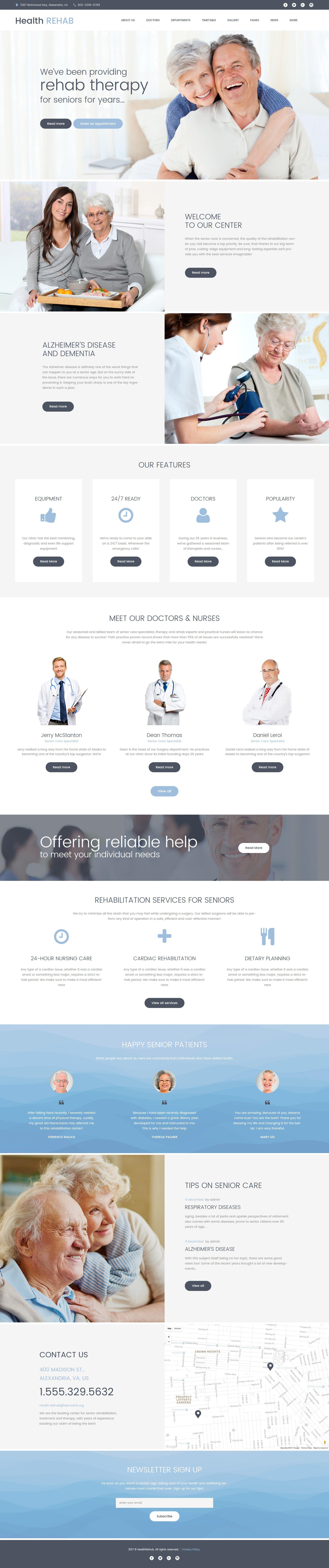Шаблон Health Rehab сайта на тему реабилитация #61243