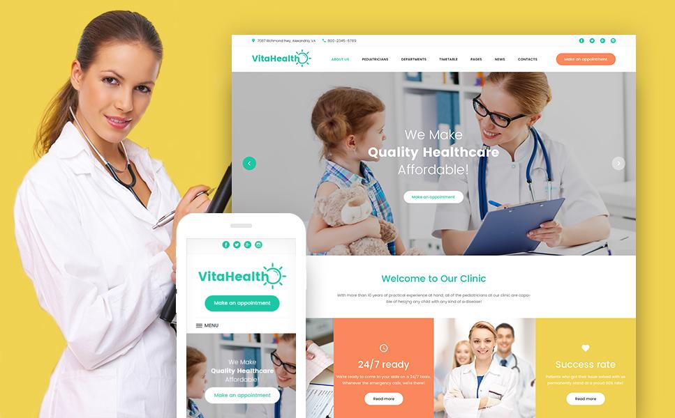 Шаблон VitaHealth сайта на тему педиатрия #61242