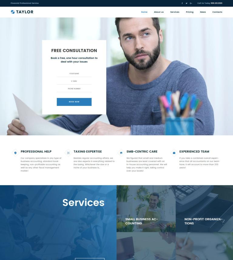 WordPress Theme #61268 für Buchhaltung Website