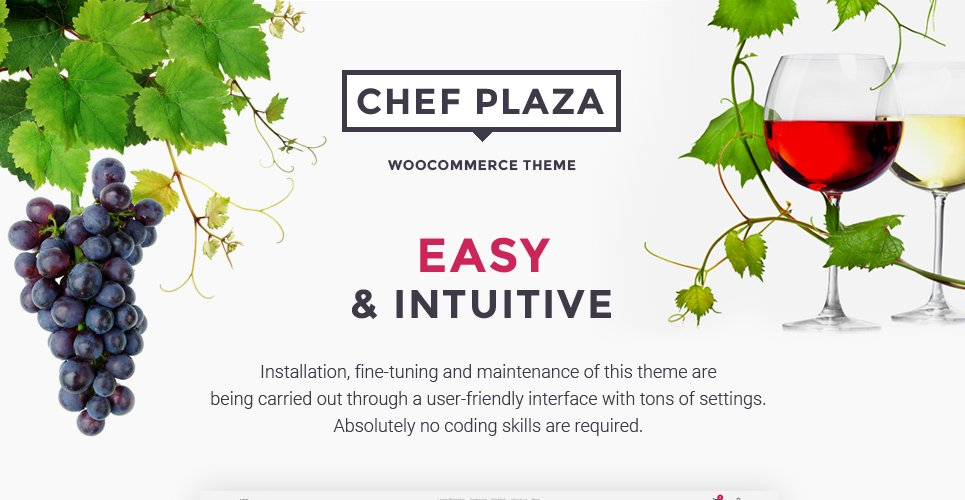 Chef Plaza Food And Wine Store WooCommerce Theme
