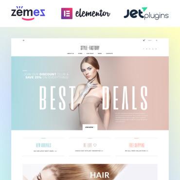 Купить Шаблон для создания интернет магазина косметики - Style Factory. Купить шаблон #61305 и создать сайт.