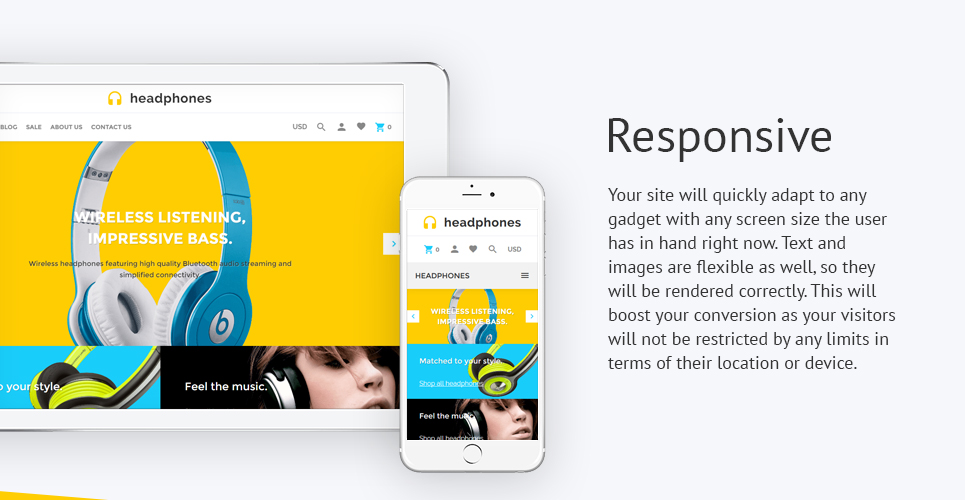 Headphones Music  Responsive Shopify  Theme