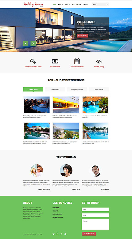 Joomla Theme/Template 61313 Main Page Screenshot