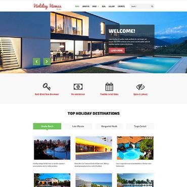 Купить Шаблон сайта аренды - Holiday Home for rent. Купить шаблон #61313 и создать сайт.