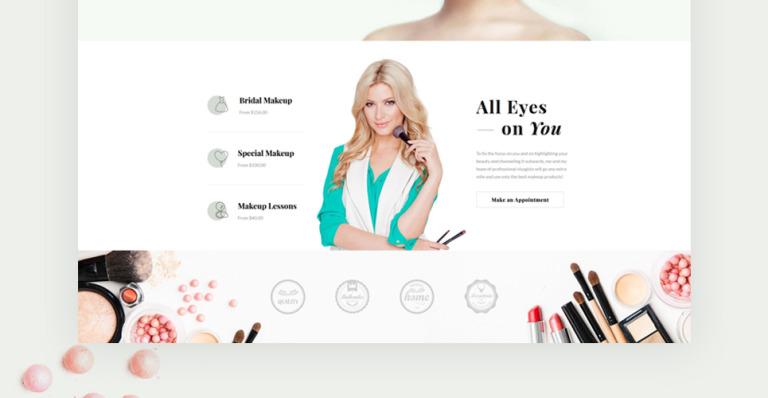 makeup artist website templates