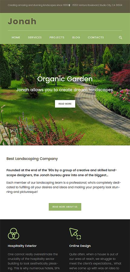 Jonah - Landscape Design and Lawn Mowing WordPress | Website Templates