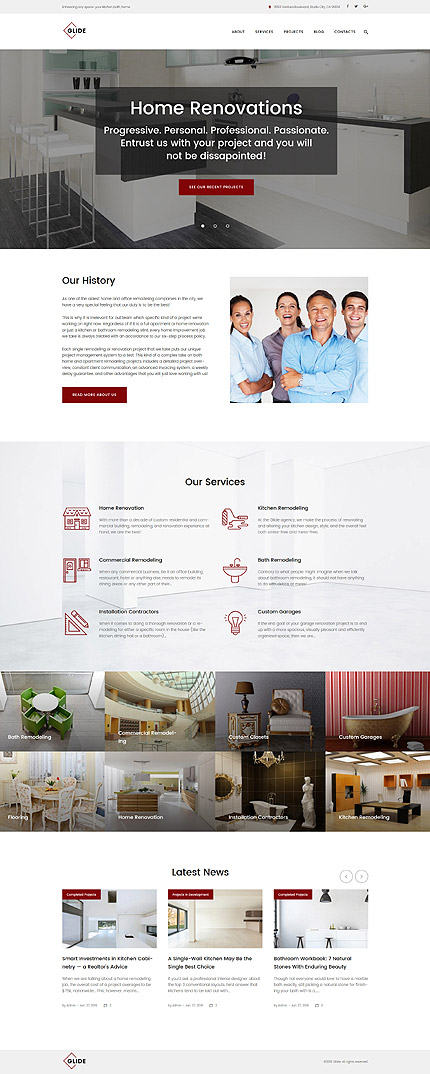 ADOBE Photoshop Template 61320 Home Page Screenshot
