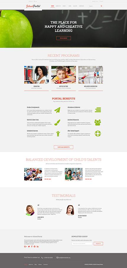 Шаблон образовательного сайта - School Portal