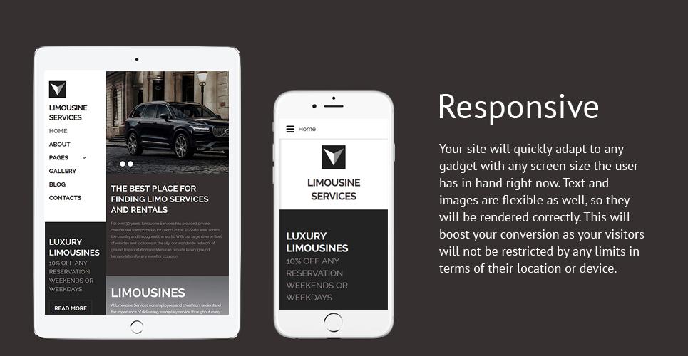 Limousine Services - Luxury Car Services Responsive Joomla Template