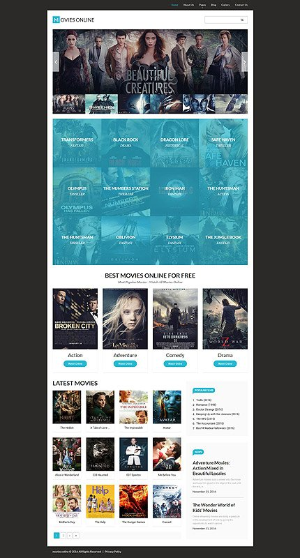 Joomla Theme/Template 61332 Main Page Screenshot