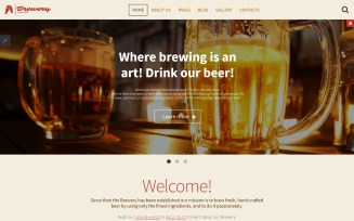 Brewery - Brewhouse Responsive Joomla Template