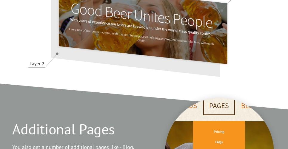 Brewery - Brewhouse Responsive Joomla Template