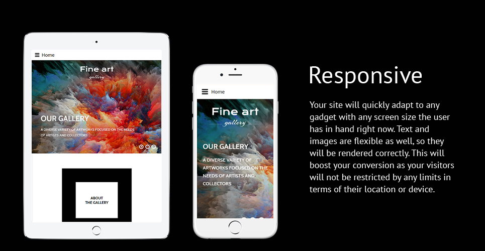 Fine Art - Art & Culture Gallery Responsive Joomla Template
