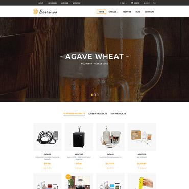Купить VirtueMart шаблон интернет магазина оборудования для пивоварения - Berrinvo. Купить шаблон #61339 и создать сайт.