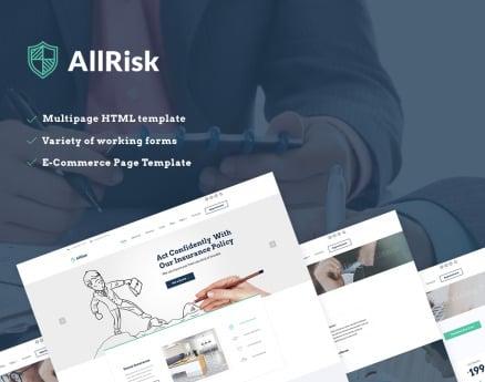AllRisk - Insurance Company Multipage Website Template