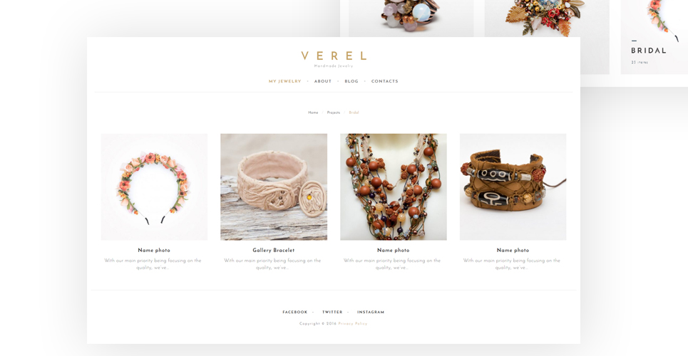 Verel Is A Fully Responsive And Editable Handmade Jewelry WordPress Theme Created For Websites This Creative Has Cherry