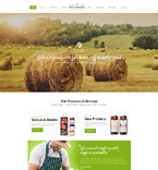 Сельское хозяйство. Шаблон сайта 61347