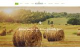 Responsivt Hemsidemall för Jordbruk