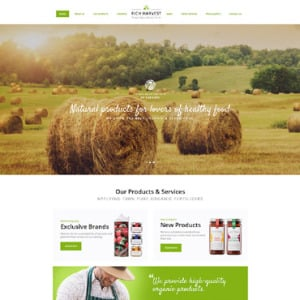 Screenshot of Agriculture Company Business Grain-crops Cereals Field