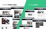 Responsive Website template over Adviesbureau