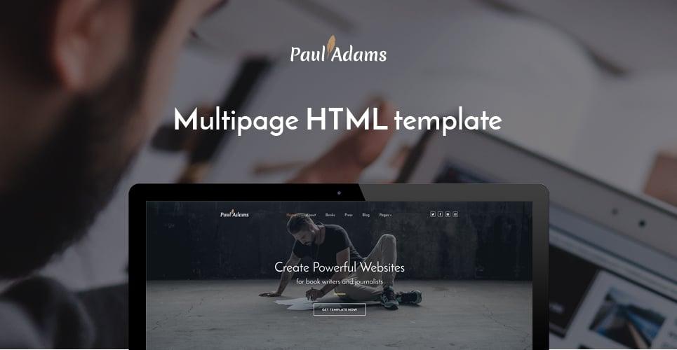 Paul Adams - Writer Website Template