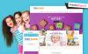 Responsivt PrestaShop-tema för leksaksbutik En stor skärmdump