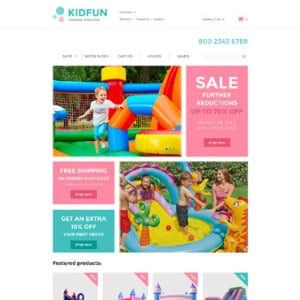 Screenshot of Kidfun Inflatables Inflatable