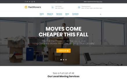 Fast Moving - Transportation & Moving Services WordPress Theme