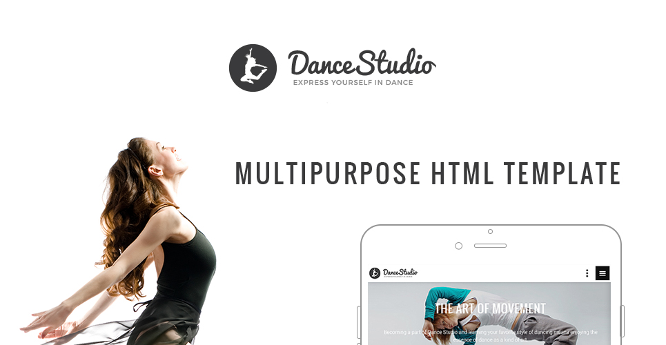 DanceStudio - Dance Coach Responsive Website Template