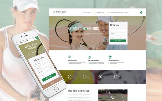 Tennis Club Sport Racket main view
