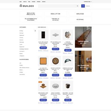 Купить VirtueMart шаблон интернет магазина строительных материалов - BUILDEX. Купить шаблон #61398 и создать сайт.