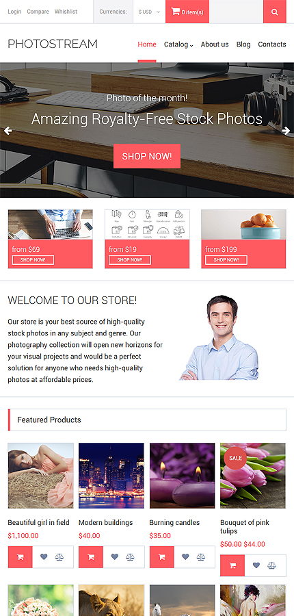 ADOBE Photoshop Template 61399 Home Page Screenshot