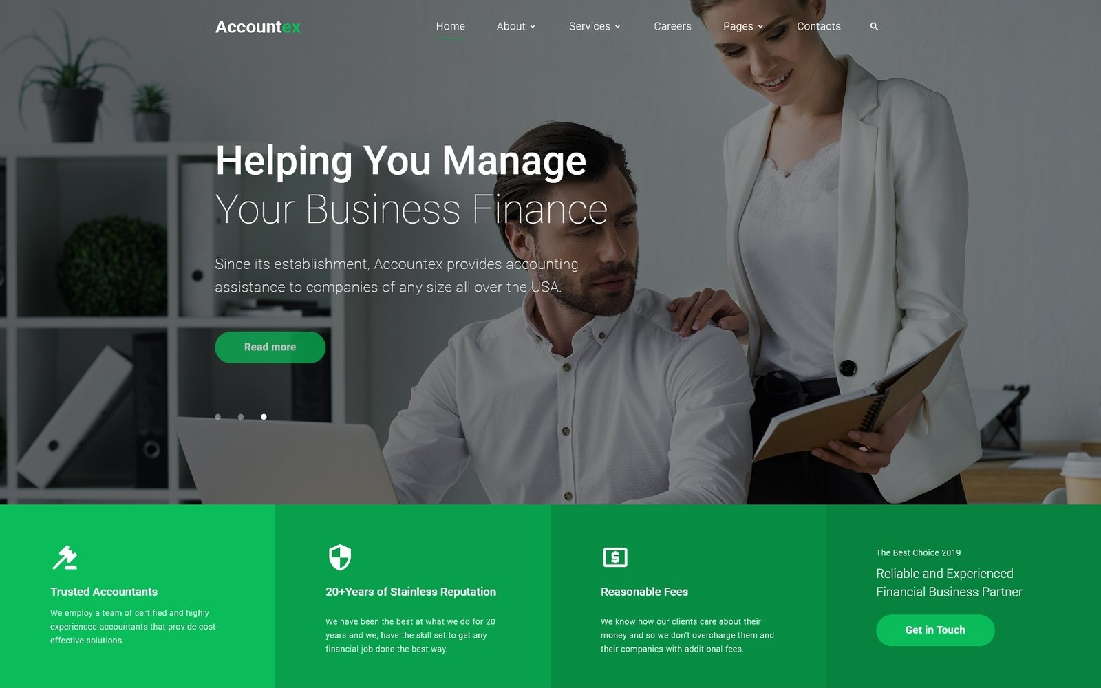 Accountex - Accounting Clean Multipage HTML Website Template - screenshot
