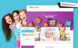 Адаптивний PrestaShop шаблон на тему магазин іграшок