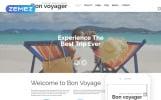 Адаптивный Joomla шаблон №61329 на тему агентство путешествий