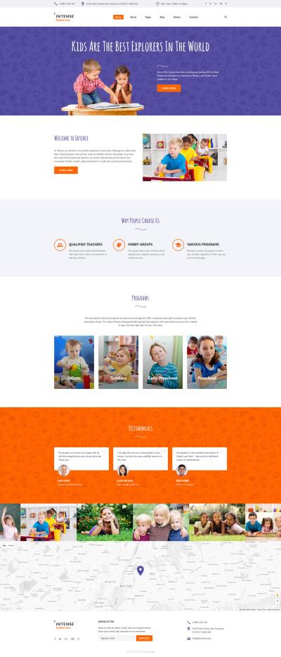 Адаптивный Joomla шаблон №61337 на тему детский центр #61337