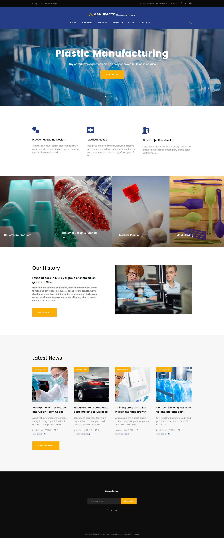 Адаптивный шаблон сайта на тему промышленность #61321