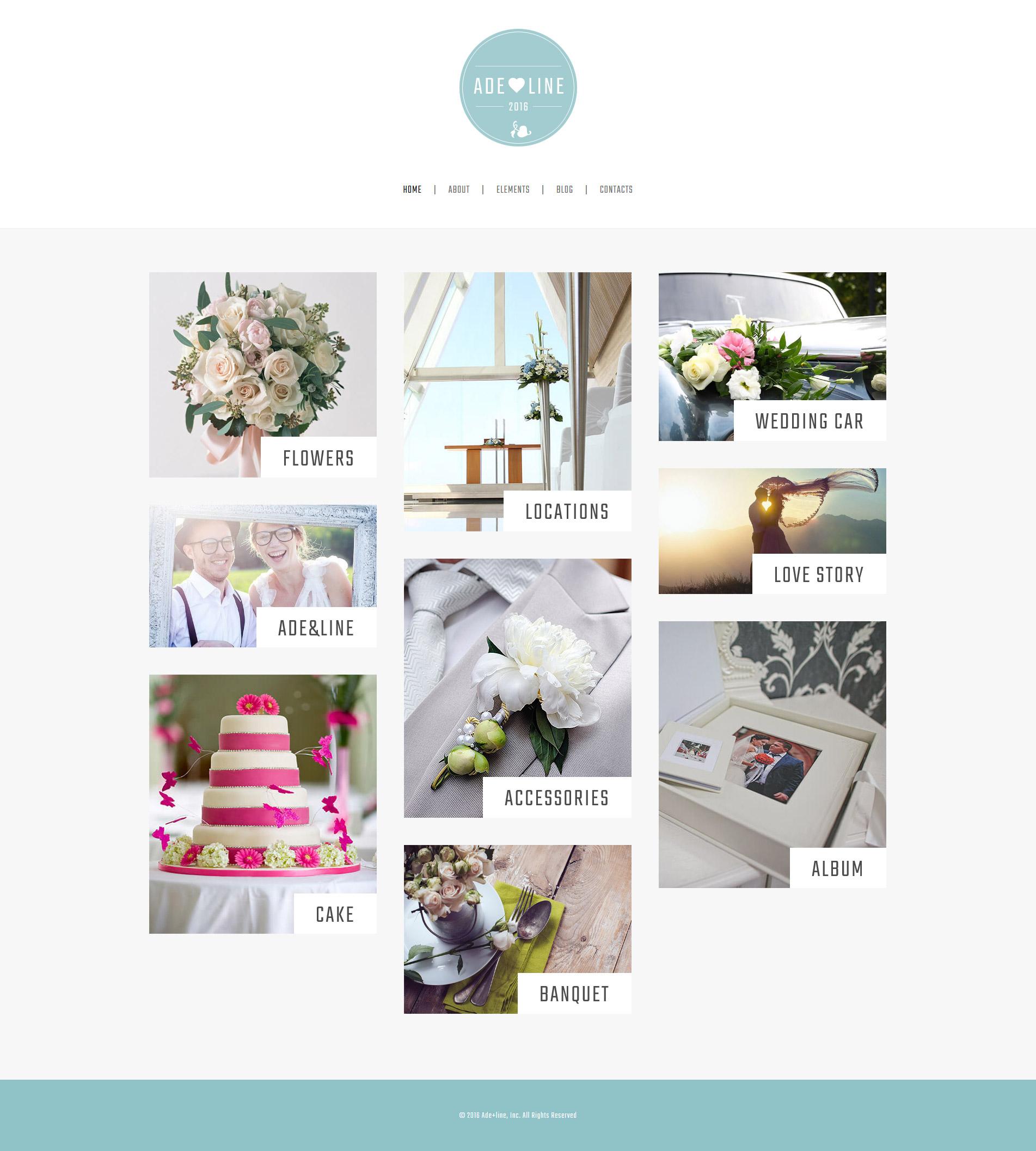 Adeline - Young Couple Photo Album Photography Tema WordPress №61327