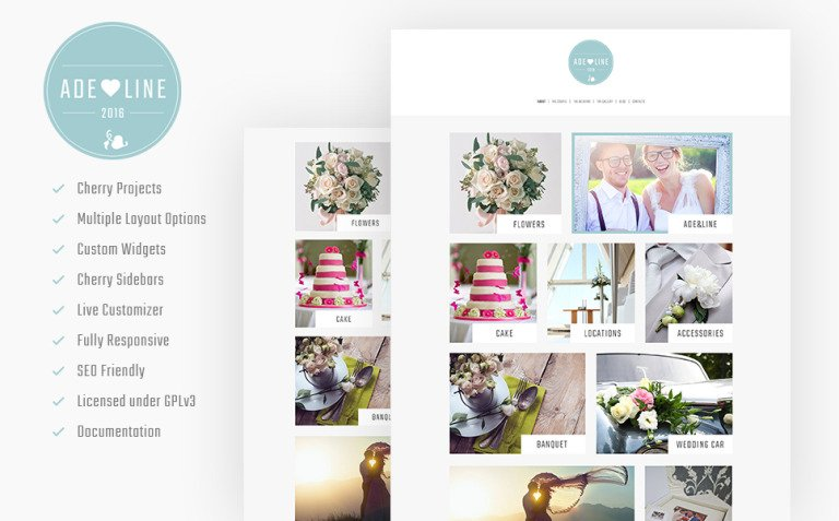 Adeline - Young Couple Photo Album Photography WordPress Theme New Screenshots BIG