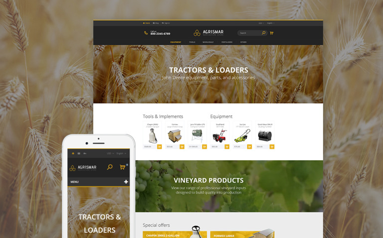 Agrismar - Agriculture Store PrestaShop Theme New Screenshots BIG