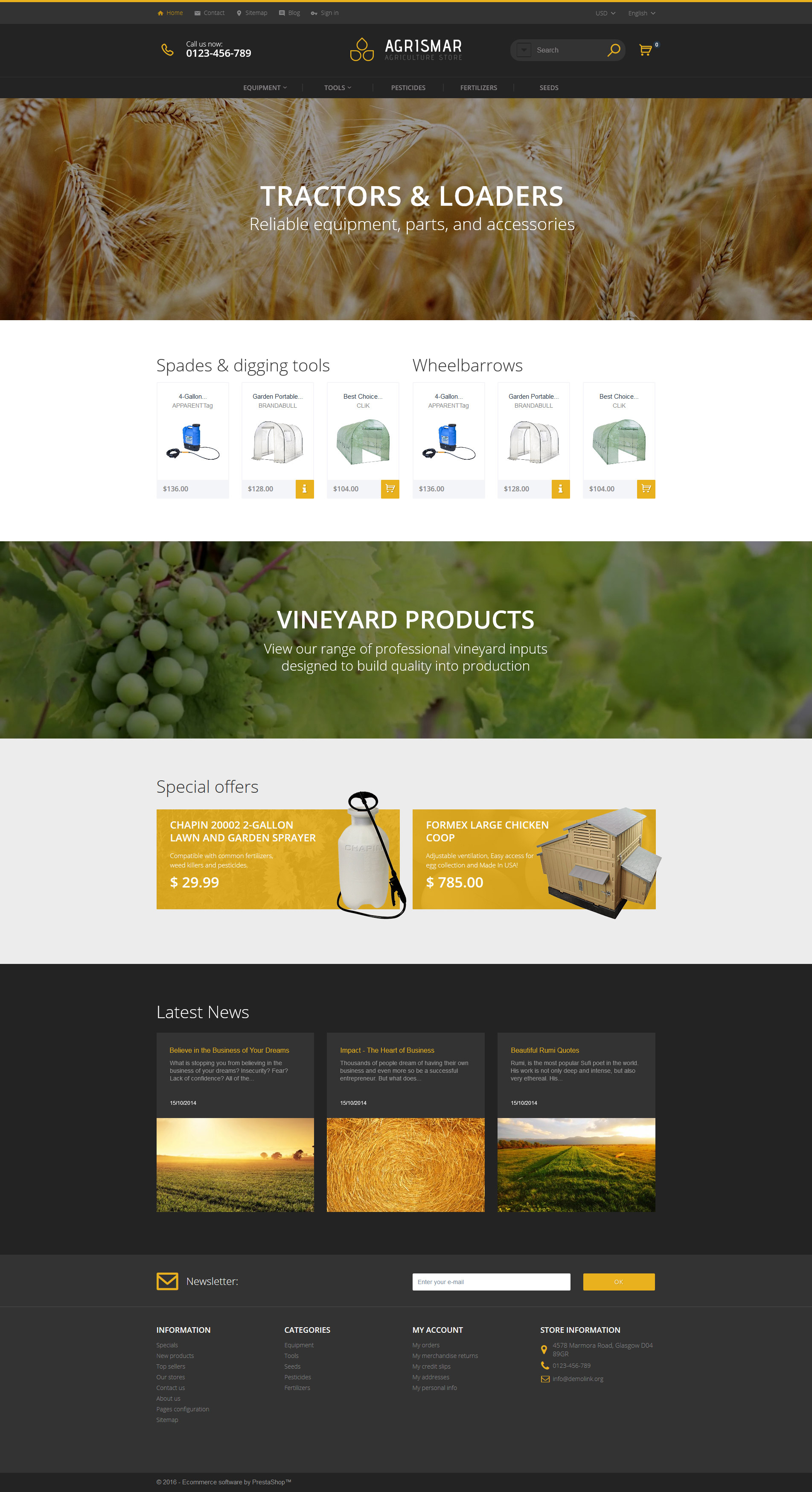 Agrismar - Agriculture Store PrestaShop Theme - screenshot
