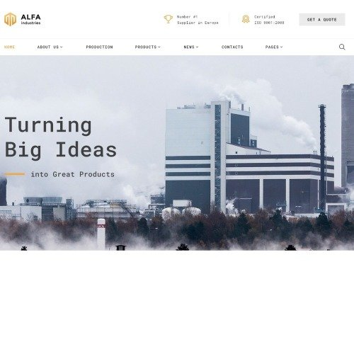 Alfa Industries - Website Template based on Bootstrap