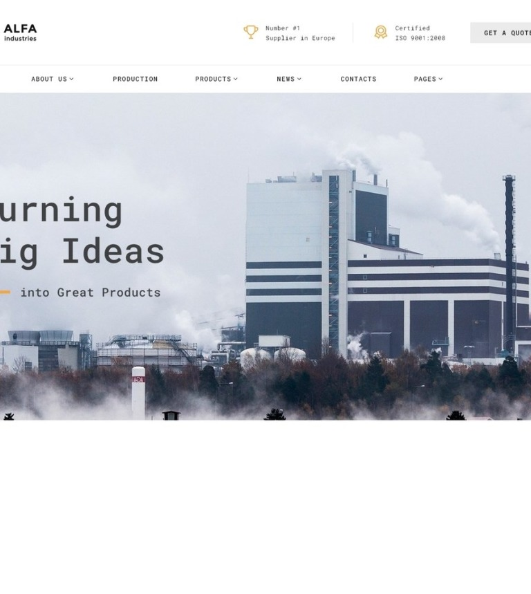 Alfa Industries - Heavy Industries Multipage Website Template