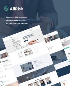 insurance agency web template  29  Best Insurance Website Templates