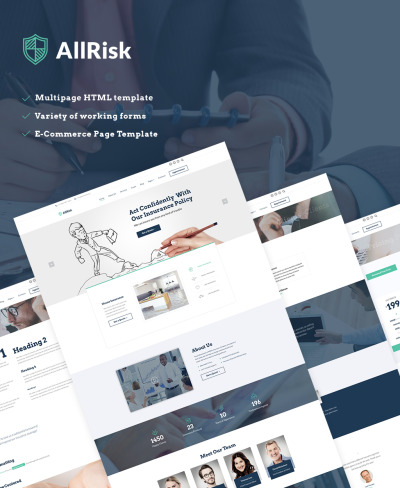 insurance company website template  29  Best Insurance Website Templates