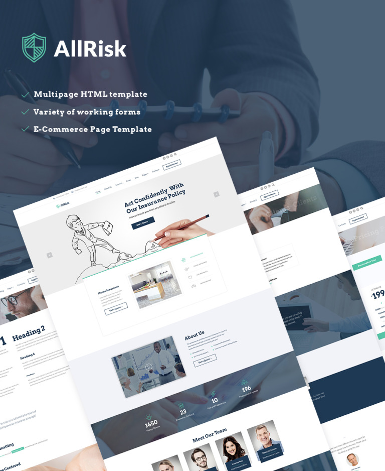 insurance policy website template  Insurance Company Website Template