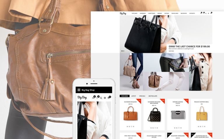Big Bag - Handbag Store OpenCart Template New Screenshots BIG