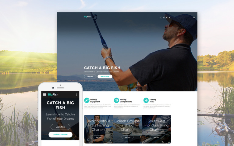 BigFish - Fishing Website Template New Screenshots BIG
