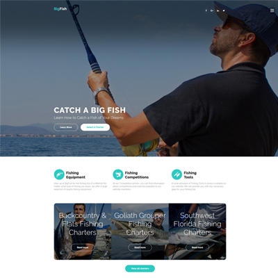 BigFish - Fishing Website Template